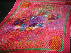 "Hermes pleats scarf ""RENCONTRE OCEANE"" foulard **fucha pink**"