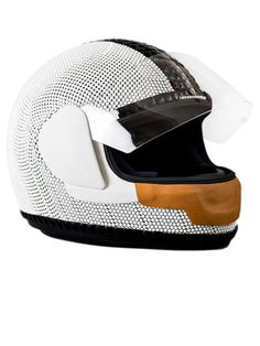 CFDA Swarovski Nominees Create Objets D'Art to Benefit Free Arts NYC - Tim Coppens's crystallized Ducati Formula-1 racing helmet