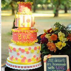 Orange Wedding Cake - California Weddings: http://www.pinterest.com/fresnoweddings/