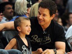 Marky Mark with son