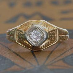 SALE Antique Engagement Ring-Art Deco Engagement Ring-1920s