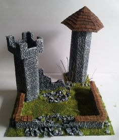 Quick and Cheap Miniature Scenery #model #towers