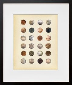 History of the Baseball Baseballs from all Eras by PigeonEditions, $11.95