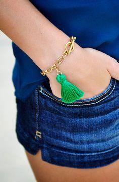 Chic Tassel Bracelet via Etsy.