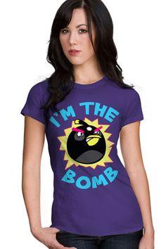 "Angry Birds Tees ""Bomb"""