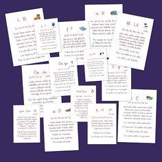 Cartilla de lectura con las consonantes - Escuela en la nube