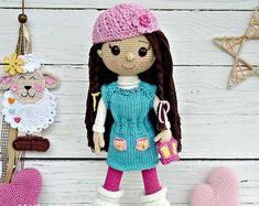 PATTERN  Doll Andy  crochet pattern amigurumi pattern PDF