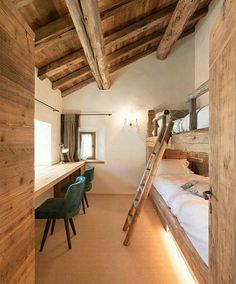 View full picture gallery of Chesa Maria – La Punt St.Moritz View full picture gallery of Chesa Maria – La Punt St. Bunk Rooms, Attic Rooms, Bunk Beds, Bedrooms, Chalet Design, House Design, Loft Design, Chalet Style, Cottage Design