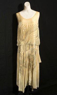 Beaded silk velvet evening dress, c.1928, from the Vintage Textile archives.