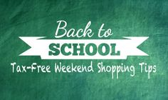 Back to school shopping can get incredibly expensive! Check out these tips for tax free weekend!     http://qoo.ly/a7thn