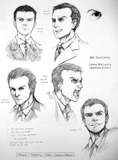 James Moriarty character study by inklou.deviantart.com on @deviantART