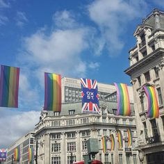 London this makes me so so happy. Every year. #LoveLondon #Pride . . . #OxfordCircus #londonpop #londontown #londonbylondoners #londonlocal #theprettypursuit #Family #OxfordStreet #blueskies #architecture #beautiful #london_architecture #LookUpMore #traveblogger #lookuplondon #maybeldner #prettycitylondon #timeoutlondon #thisislondon #toplondonphoto #sunshine #bliss #rainbow #loudandproud