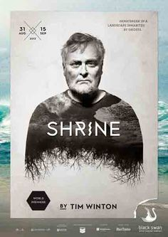 "Swan Theatre Poster Series: ""Shrine""  #TheaterPoster #PosterDesign #PosterSeries"