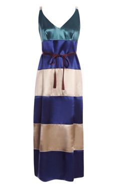Belted Colorblock Satin Dress from #MarcJacobs | PS Dept. $1100