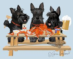 Scottish Terrier Paws for Claws Print