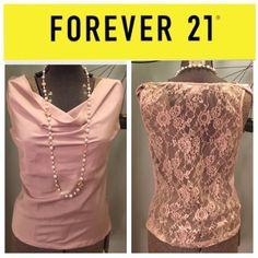 Drape neck lace back top size small mauve lavender Small good condition Tops Blouses
