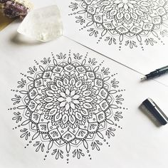 "739 Likes, 10 Comments - sтєρн ѕρєєя (@okitssteph) on Instagram: ""Working up some mandala concepts for @muladharayoga workworkworkworkwork. Where are all my yoga…"""