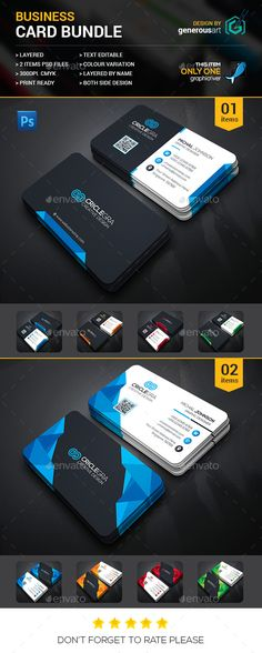 2 Business Card Template PSD Bundle. Download here: http://graphicriver.net/item/business-card-bundle-2-in-1/15772926?ref=ksioks