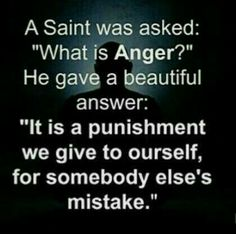 Oh gosh.   No more anger.  Not about me, then not angry for your mess ups.  Good bye.