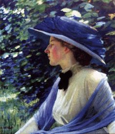 'Portrait of Florence Carter-Wood' by Harold Knight, 1911 (first wife of Sir Alfred James Munnings)