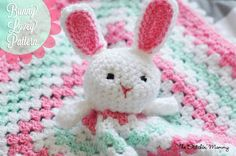 Hæklet Bunny Lovey - Gratis Mønster af The Stitchin 'Mommy www.thestitchinmommy.com