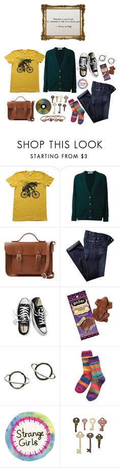 """""""Long Time No See!"""" by peregrinetook ❤ liked on Polyvore featuring Burberry, The Cambridge Satchel Company, 7 For All Mankind, Victoria's Secret, Jelly Belly and Stefanie Sheehan Jewelry"""