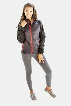 A terrific range of outerwear jackets awaits at the online store, Alanic. Buy top-quality ladies outerwear jackets and avail great delivery service in USA! Running Jacket, Womens Workout Outfits, Athletic Women, Jackets Online, Clothing Company, Women's Clothing, Gray Jacket, Fit Women, Hooded Jacket