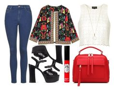 """""""street style"""" by sisaez ❤ liked on Polyvore featuring Topshop, Yves Saint Laurent, Accessorize and TheBalm"""