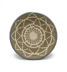 Large Fern Thousand Hills Basket, olive, gray, and white, made from sisal and sweet grass and organic dyes, safe to use with food. From All Across Africa. $50.00, special price $35.00