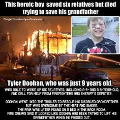 Sorry to inform you, but football players are not heroes, Sadie Robertson is not a hero for dancing, Politicians are not heroes, This little boy is a hero. Heroes are people who put others before themselves no matter what the cost.   Iz