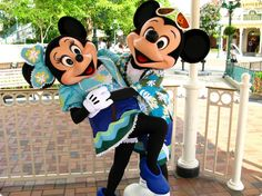 Mickey and Minnie Mouse!