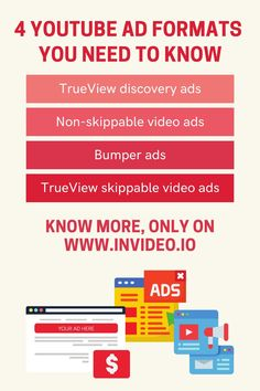 A Complete Guide On Using YouTube Video Ads For Your Business. Visit the InVideo Blog and learn more! Youtube Video Template, You Youtube, Youtube Advertising, Web Browser, You Videos, Video Editing, Need To Know, Things To Come, Ads