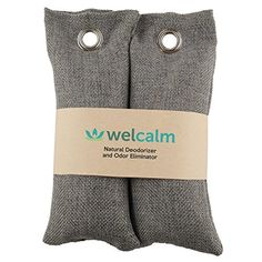 Welcalm Natural Deodorizer and Odor Eliminator - Activated Charcoal Smell Absorber for Shoes, Boxing Gloves and Gym Bags - Stink and Bacteria Remover
