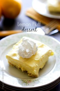 Lemon Fluff Dessert | Mandy's Recipe Box