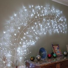 The Holiday Aisle Climbing Vine LED String Light Color: Cool White - Schultüte Basteln Decoration Branches, Lighted Tree Branches, Light Decorations, Decorating With Fairy Lights, Birch Trees, Diy Decorating, Interior Decorating, Starburst Light, Accent Wall Decor
