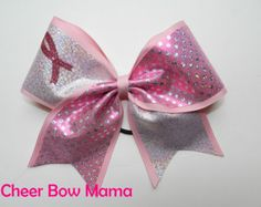 Pink Warrior Ombre Glitter Breast Cancer Awareness by CheerBowMama