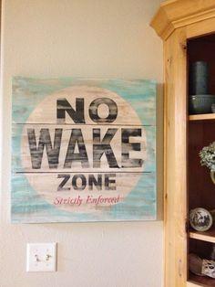 No wake zone sign idea