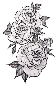 White background Tattoo for man and woma… - Tattoo Designs Men Cute Tattoos, Beautiful Tattoos, Body Art Tattoos, Sleeve Tattoos, Pretty Tattoos, Awesome Tattoos, Sexy Tattoos, Tatoos, Rose Tattoos For Women
