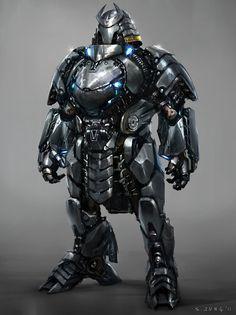 Silver Samurai - The Wolverine Concept Art  Hahaahaaa...fat robot,ı like it!