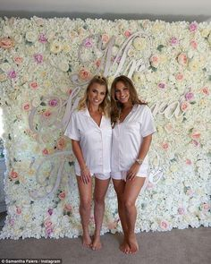 Wedding bells: With the pair set to wed in the Maldives, the Faiers' didn't do things by half measures as they celebrated Billie's first hen party at their mum Susanne's flat Hen Do Outfits, Hen Party Dress, Girly Pictures, Girly Pics, Ferne Mccann, Sam Faiers, Bride Getting Ready, Wedding Bells, Boho Fashion