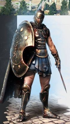 "Ancient Greek, Athenian Soldier/Warrior as seen in the movie with Gerard Butler & also, as Soldier/Gladiator/Warrior in ""The Legend Of Hercules"" with Kellan Lutz as ""Hercules"" Character Concept, Character Art, Concept Art, Samurai, Fantasy Armor, Medieval Fantasy, Fantasy Art Warrior, Spartan Tattoo, Roman Empire"