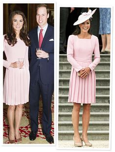 On May 18th, #KateMiddleton wore a rose pink dress by Emilia Wickstead to celebrate the Queen's Jubilee at Windsor Castle. Fast forward 11 days later—she wore it again! http://news.instyle.com/2012/05/29/kate-middleton-pink-dress-designer/