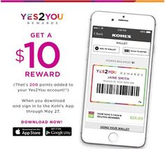 Frugal Mom and Wife: Get a $10 Reward Gift Card for downloading the FREE Kohl's App! {5/25-5/27 ONLY}
