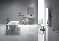 Frei stehende Badewanne mit Stand-Wannen-Armatur