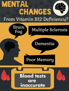 Mental changes from B12 Deficiency are almost always misdiagnosed: http://www.easy-immune-health.com/mental-changes-from-b12-deficiency.html