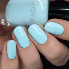 Nail Polish Society: Zoya Barefoot Summer 2019 Collection – My CMS Green Nail Polish, Green Nails, Nail Polish Colors, Summer Gel Nails, Spring Nails, Pastel Nails, Acrylic Nails, Black And White Nail Designs, Pedicure Colors