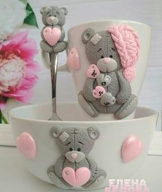 1 million+ Stunning Free Images to Use Anywhere Polymer Clay Tools, Polymer Clay Figures, Polymer Clay Projects, Diy Clay, Handmade Crafts, Diy And Crafts, Lapin Art, Clay Cup, Clay Figurine