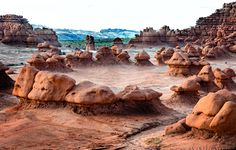 Goblin Valley in Utah.go and let your imagination run free Goblin Valley, 50 States, Utah, Mount Rushmore, Imagination, To Go, Environment, Mountains, Places