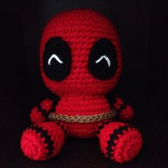 Cute but deadly #deadpool  #amigurumi #crochet #chibi #chimichanga #plushie