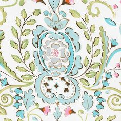What a gorgeous fabric!  Love Bird Damask Fabric - only $10/yd from babybedding.com